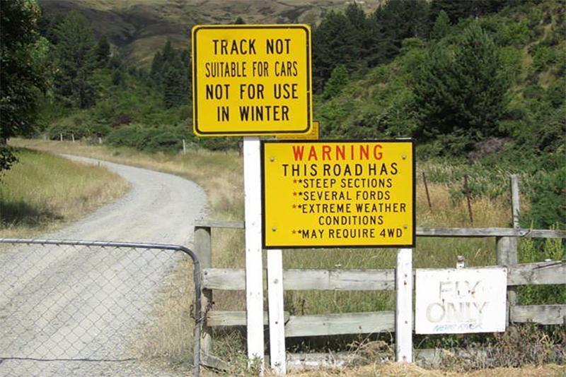 Duffers-Saddle signage mission impossibe