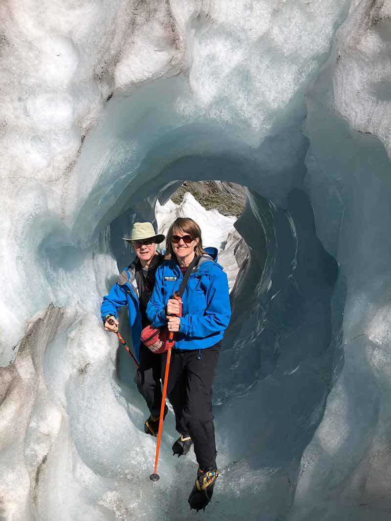 On the ice at Franz Josef Glacier